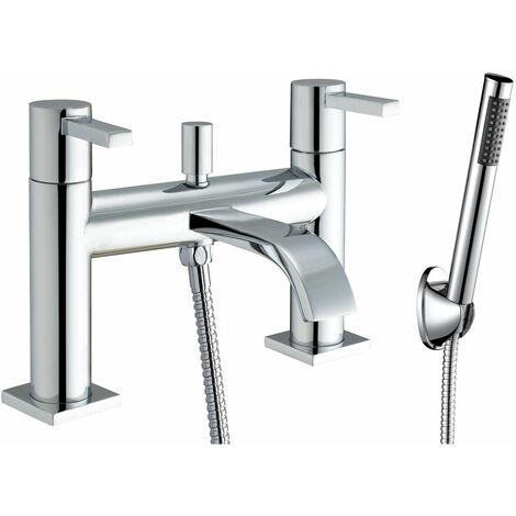 JTP Sprint Deck Mounted Bath Shower Mixer Tap with Kit - Chrome