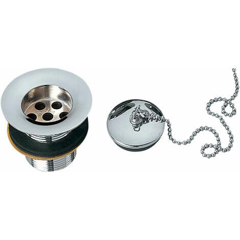 JTP Standard Basin Waste, Plug and Chain, Chrome