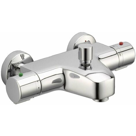 JTP Thermostatic Bath Shower Mixer Tap Wall Mounted - Chrome