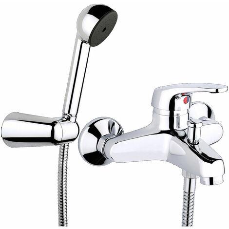 JTP Topmix Deck Mounted Shower Mixer Tap with Kit - Chrome