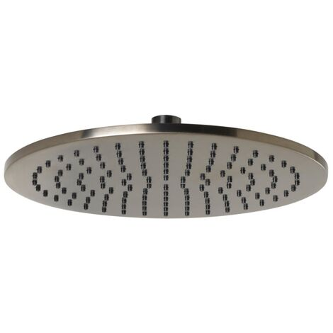 JTP Vos Round Fixed Shower Head 250mm Diameter - Brushed Black