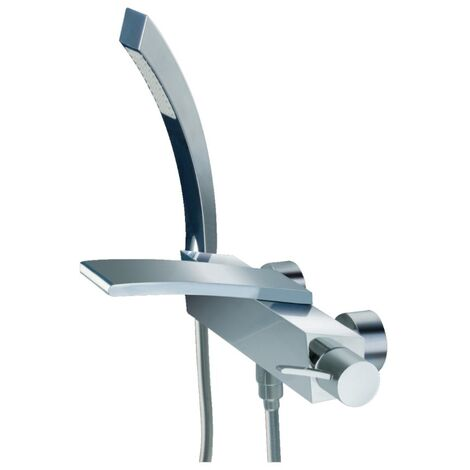 JTP Wings Wall Mounted Bath Shower Mixer Tap with Kit - Polished Chrome
