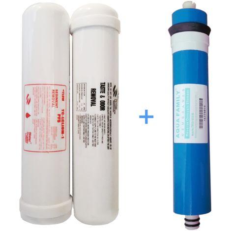 Juego 2 filtros y membrana ósmosis acuario