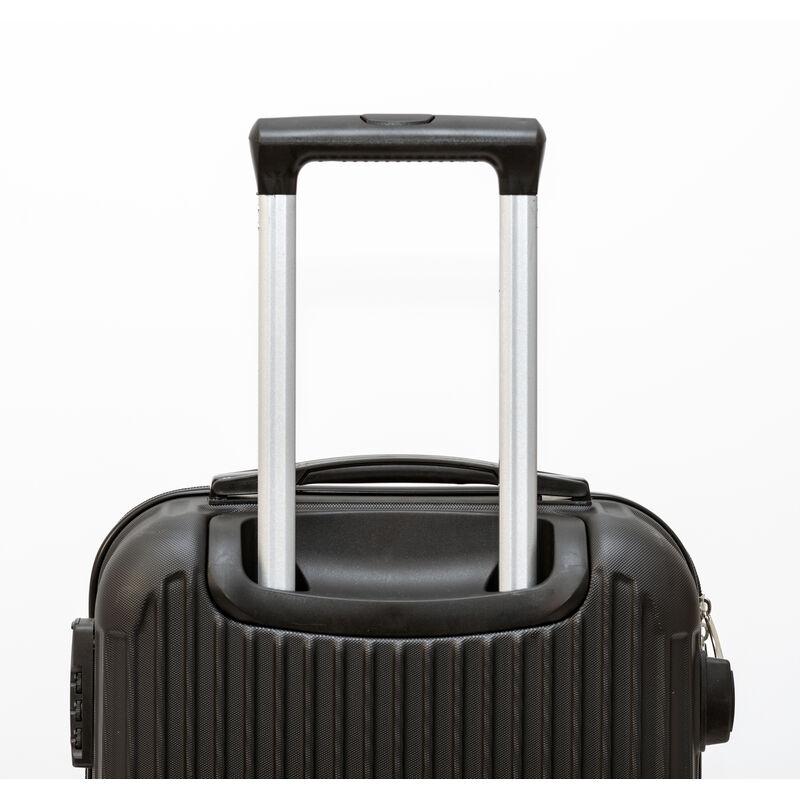 25af3cd5c Juego 3 Maletas de Viaje Set Trolley ABS Semirigidas - Negras - 36.1