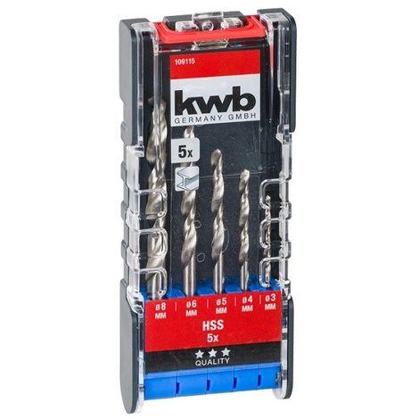 Juego 5 brocas metal KWB 109115