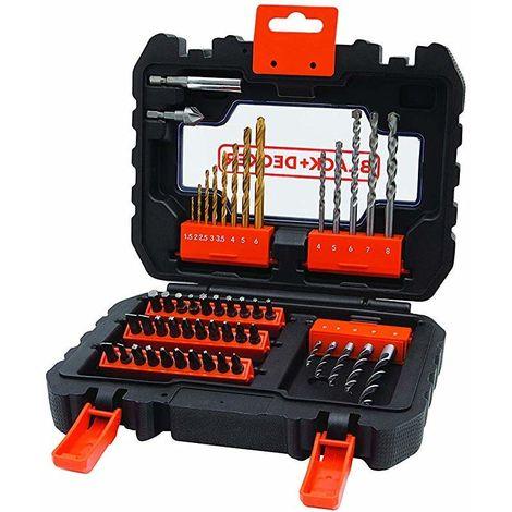 Juego 50 piezas para atornillar y taladra A7232 Black&Decker