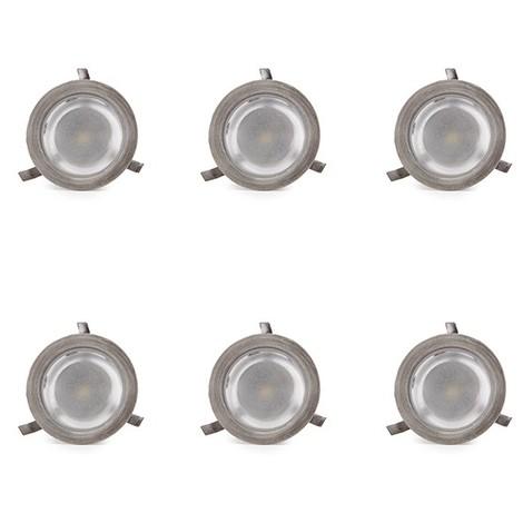Juego 6 Focos LED Empotrar IP54 Driver 0,3W 30Lm 30.000H (SC-6B105ASET)
