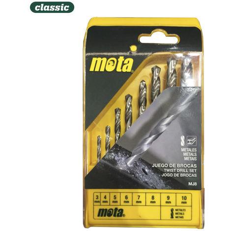 Juego 8 brocas a.r para metal de 3mm a 10mm mj8