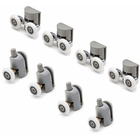 Juego 8 piezas rodamientos de recambio vidrio box ducha hoja corredera Mix 2