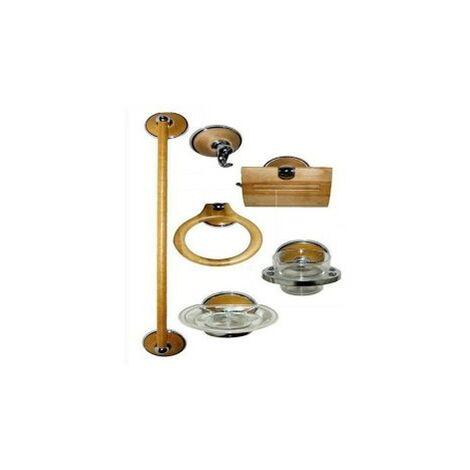 Juego accesorios baño abedul 6 piezas