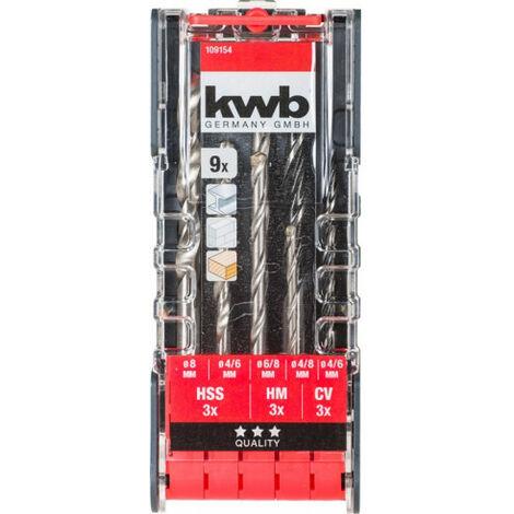 JUEGO BROCAS MIXTAS. 9 PCS PWRBOX KWB