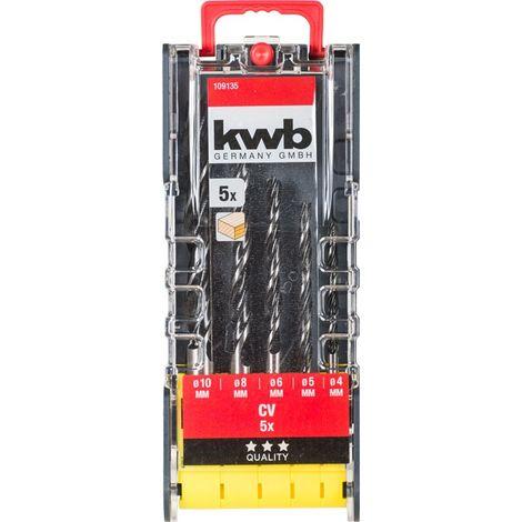 JUEGO BROCAS PARA MADERA 5 PCS PWR BOX KWB