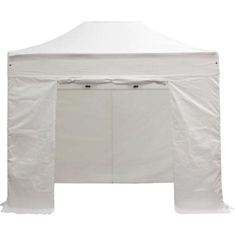 Juego completo de lonas laterales 2x3m poliester 300g / m2, 3 completo + 1 puerta