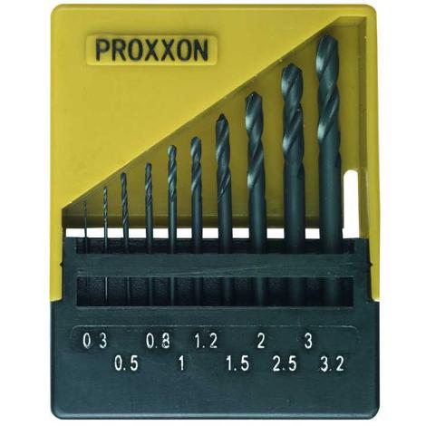 Juego de 10 brocas en espiral de corte super rápido DIN 338 para metal Proxxon