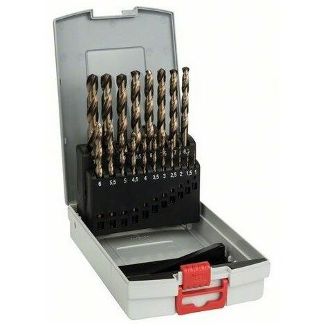 Juego de 19 brocas para metal ProBox HSS-Co, DIN 338 (aleación de cobalto) Bosch