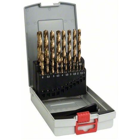 Juego de 19 brocas para metal ProBox HSS-TiN (recubrimiento de titanio) Bosch