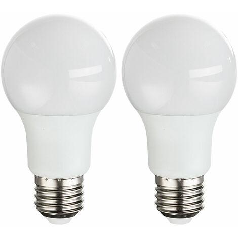 Juego de 2 bombillas LED de 9 vatios Bombilla E27 Bombilla 3000K 810 lúmenes EEK A + GLOBO 10600  -2