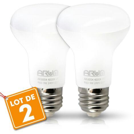 Juego de 2 bombillas LED de punto R63 E27 9W Eq 60W