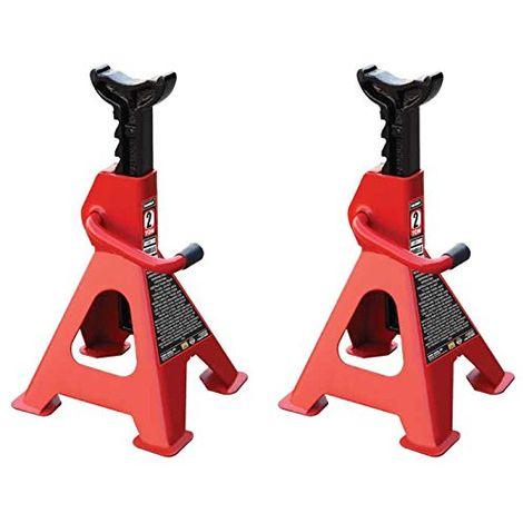 Juego De 2 Caballetes De Apoyo 2Tn 2 Toneladas 2000 Kg Coche - Pareja De Borriquetas Para Taller Mecanico