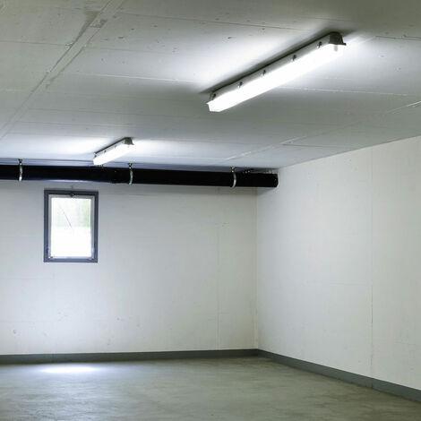 Juego de 2 lámparas LED para tina Luz diurna Almacén industrial Salones Luces de techo Focos para habitaciones