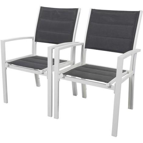 Juego de 2 sillas para jardín - Brazil/Canaries - Phoenix - Gris claro