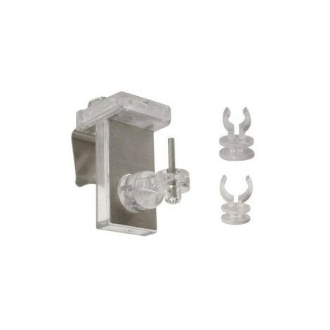 Juego de 2 soportes de clip MOBOIS CLIPVIT frontal cromado translúcido - 452000 - Blanc