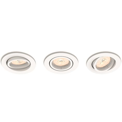 Juego de 3 Aros Empotrables Philips Donegal Circular Blanco GU10 | Sin Bombilla/Ver Accesorios (PH-8718696160909)
