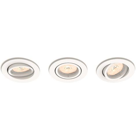 Juego de 3 Aros Empotrables Philips Enneper Circular Blanco GU10 | Sin Bombilla/Ver Accesorios (PH-8718696160404)