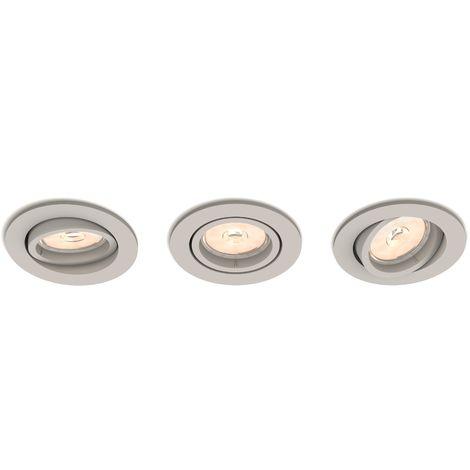 Juego de 3 Aros Empotrables Philips Enneper Circular Plateado GU10 | Sin Bombilla/Ver Accesorios (PH-8718696160220)