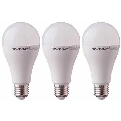 Juego de 3 bombillas LED E27 blanco cálido Lámpara de bola de 15 vatios 3000 Kelvin Lámpara de 1250 lúmenes