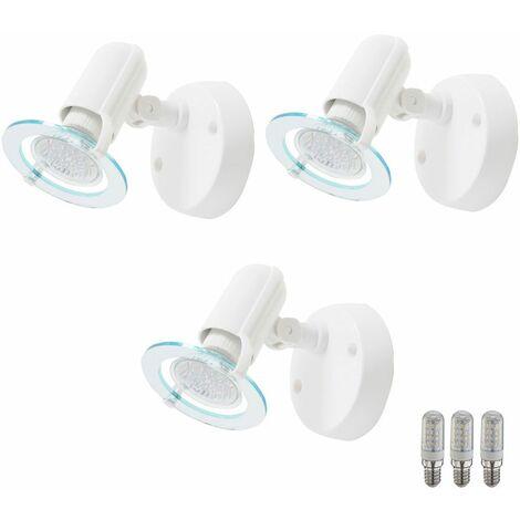 Juego de 3 lámparas de pared LED luces de la sala de trabajo de lectura blanco Reflectores Lámparas ajustables