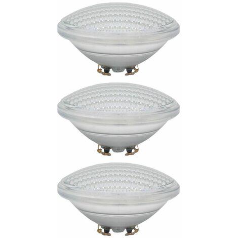 Juego de 3 lámparas LED para piscinas SMD Focos para lavabo PAR56 Lámparas azules