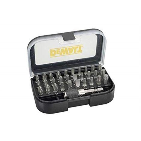 Juego de 31 piezas con puntas de atornillar Pz1x2, Pz2x3, Pz3x1, Ph1x2, Ph2x2, Ph3, Pl4.5, Pl5.5, Pl6.5, T10x2, T15x2, T20x2, T2