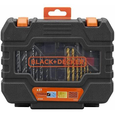 Juego de 31 piezas para atornillar y taladrar A7233 Black + Decker