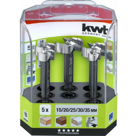 Juego de 5 brocas de bisagra Speed AKKU-TOP KWB