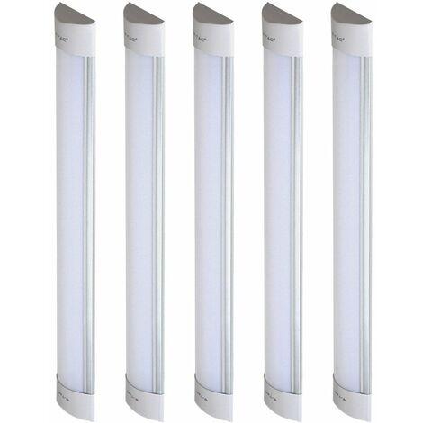 Juego de 5 lámparas de techo LED debajo del banco Living comedor LUCES DE COCINA