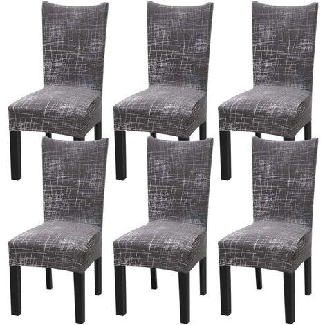 Juego de 6 fundas elásticas universales para silla de comedor de estilo nórdico