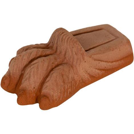 """Juego de 8 pies """"PATA DE LEÓN"""" platillo para jarrones, macetas y jardineras, cántaros, cuenca, exterior, en terracota toscana"""