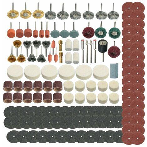 Juego de accesorios de rueda de herramienta giratoria de pulido de lijado de 347 piezas