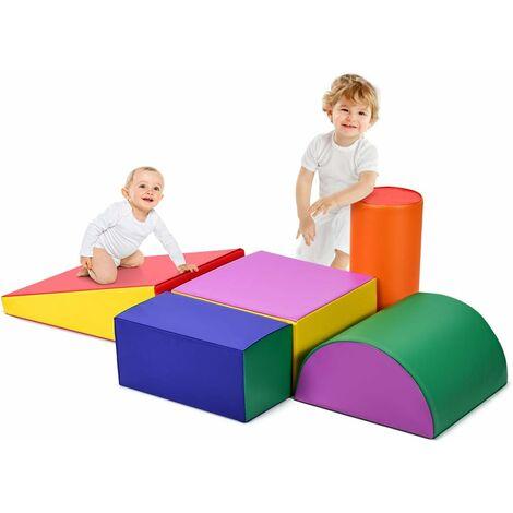 Juego de Bloques de Espuma para Bebé Gatear y Trepar Bloque Gigante Construcción para Niños