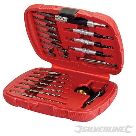 Juego de brocas avellanadas y atornilladores Quick-Lock. 30 pzas (Vástago hexagonal 6.35 mm (1/4''))