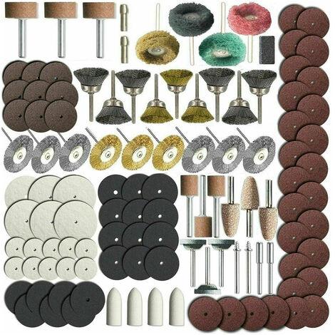 Juego de brocas de accesorios para herramientas electricas rotativas de 150 piezas, para vastago de 1/8 pulgadas