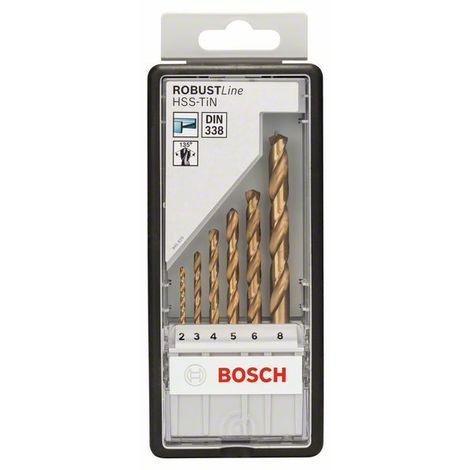 Juego de brocas de metal de 6 piezas HSS-TiN Robust Line, 135 ° Bosch