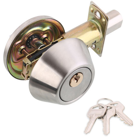 Juego de cerradura con pomo de puerta, con manija de privacidad de 3 llaves