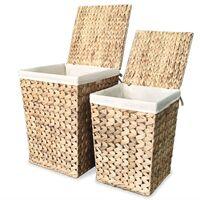 Juego de cestos para la ropa 2 unidades de jacinto de agua