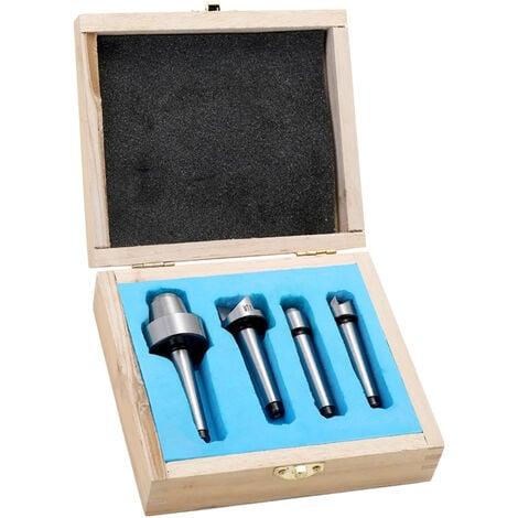 """main image of """"Juego de dedales para carpinteria de 4 piezas MT1, para herramienta de torneado de metal de madera y cortador"""""""