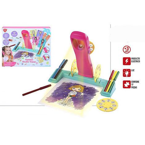Juego de Dibujo con Proyector, 17 Piezas. Dibuja tus propios Modelos, Juguetes Infantiles Fashion 320 x 60 x 280 mm