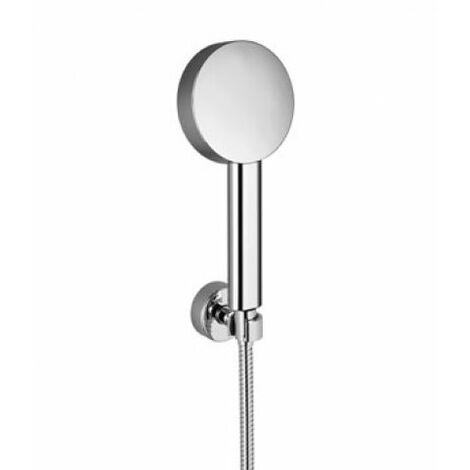Juego de ducha con manguera Dornbracht, con ducha de mano ajustable, para bañera y ducha con mezclador monomando o montaje en la pared 27805625, color: Negro Mate - 27805625-33
