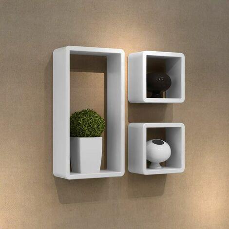 Juego de estantes en forma de cubo 3 piezas