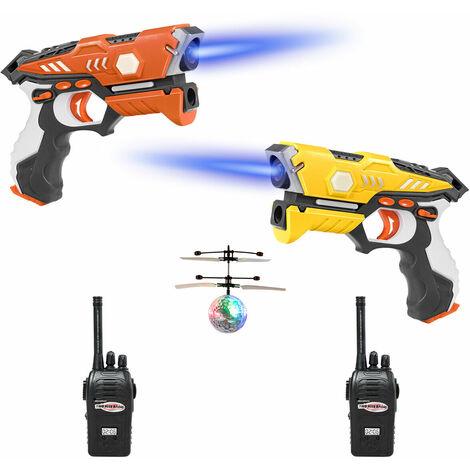 Juego de Etiquetas Pistola de Juguete Infrarroja con Modo Multijugador,4 Modos,Función de Luz y Efecto de Sonido